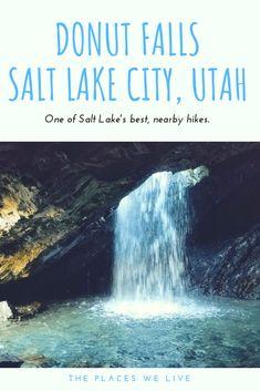 Donut Falls Hike Donut Falls near Salt Lake City, Utah - The Places We Live Park City Utah, Salt Lake City Utah, Salt Lake City Hikes, Big Ben, Slc Utah, Utah Vacation, St George Utah, Utah Adventures, Utah Hikes