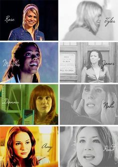Beginnings and endings of each companion. WHY MUST THE ENDINGS BE SO SAD AND THEIR BEGINNINGS SO HAPPY!?!?