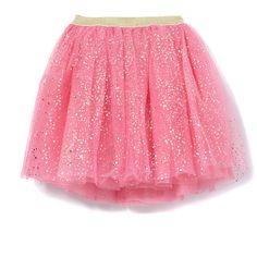 Milky Party Tu Tu Gold Glitter Spot in Pink