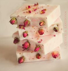 A pretty melt and pour soap with the look of a cold-process soap.