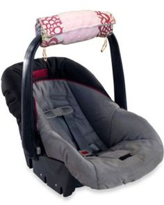 No more car seat cramp! This cushy arm pad comfortable covers the crook of your arm, then transforms into a tummy time mat for Baby. Click above to buy one.