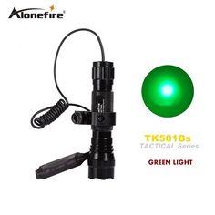 501B led green light Tactical Flashlight Hunting Rifle Torch Shotgun lighting Shot Gun Mount+Tactical mount+Remote switch