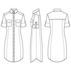 технический рисунок одежды - Поиск в Google