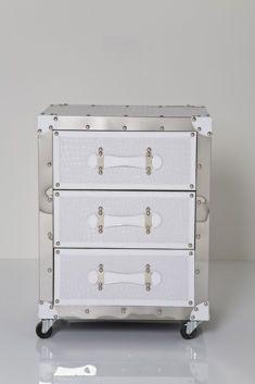 Kare design :: Croco Noble Chest 3 Drawer White. Szafka nocna