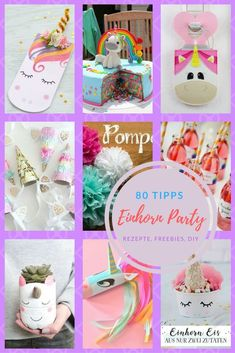 The 80 best tips to celebrate a unicorn party or rainbow party. Unicorns are all the rage and exactly the hanger to celebrate a children's birthday party as a theme party. Unicorns and rainbows can be used perfectly for invitation cards, party…Read Baby Birthday, Birthday Gifts, Birthday Parties, Themed Parties, Birthday Cake, Childrens Party, Craft Party, Party Planning, Diy Gifts