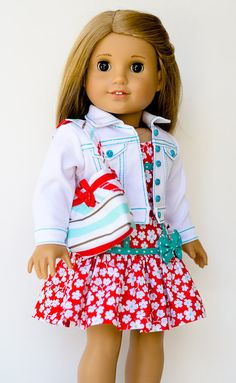 Jean Jacket Dress and Purse for American Girl by AnnasGirls