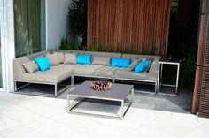 Latitude by Indian Ocean Outdoor Sectional, Sectional Sofa, Outdoor Retreat, Garden Seating, Outdoor Furniture Sets, Outdoor Decor, Sofa Set, Garden Ideas, Ocean