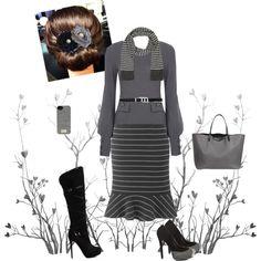 """Grey & Black"" by estes9011 on Polyvore"