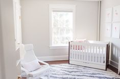 What do you think about the crib angled in the corner like this? It's a great solution for a small space!
