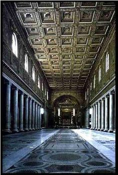 Basílica de Santa María la Mayor (Roma) año 432 :: ARTE PALEOCRISTIANO