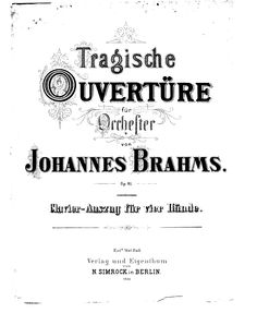 MUSIClassical notes: Brahms Tragic Overture