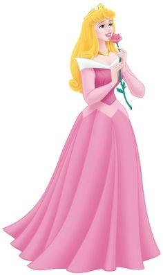 Princess Aurora holding her beautiful pink rose