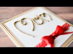 How to make a greeting card? How to make some decorations? In this clip I'll show You step by step how to make a handicraft. Visit my channel, where You can . Mother's Day Diy, Mothers Day Cards, Handicraft, Twine, Channel, Greeting Cards, Lettering, How To Make, Mom