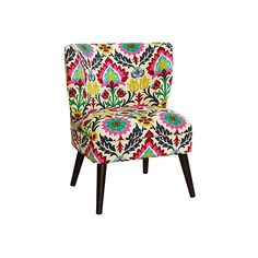 Bailey Chair Floral Accent & Occasional Chairs ($439) ❤ liked on Polyvore featuring home, furniture, chairs, accent chairs, standing chair, upholstery chairs, bloom chair, fabric accent chairs and handcrafted furniture