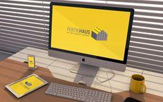 Logo Haus Bau Logo   EXKLUSIVES Logo Haus Bau Logo hier kaufen