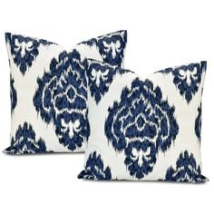 Ikat Bl Printed Cotton Cushion Cover