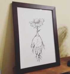 Draw, nankin, art, desenho, mão, planta
