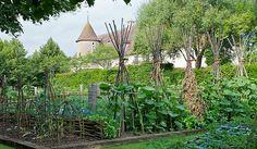 Orsan Garden in France; established 1107, especially nice trellises