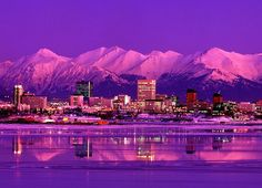 Anchorage Alaska skyline- I wonder if I could get used to 19 hrs. of Sunlight in the summer.