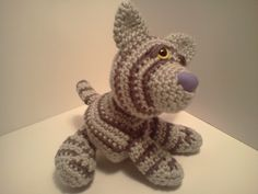 Serendipity Creative: Emily Baby Silver Tabby Cat Ami'Pal Amigurumi Stuffed Kitten Crochet Pattern Now Available