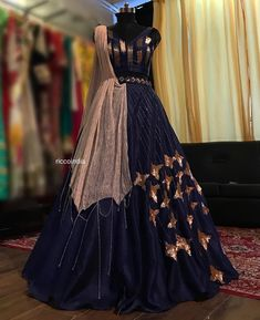 Check out the collection by Ricco India. Lehenga prices start from INR and they even do banarasi lehengas. Indian Wedding Gowns, Indian Gowns Dresses, Indian Bridal Outfits, Indian Fashion Dresses, Dress Indian Style, Indian Designer Outfits, Wedding Dresses, Flapper Dresses, Wedding Lehenga Designs