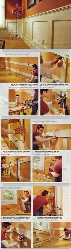 Wainscoting Made Simple - Wainscoting and Paneling Tips and Techniques | WoodArchivist.com #woodworkingplans #woodworkinginfographic