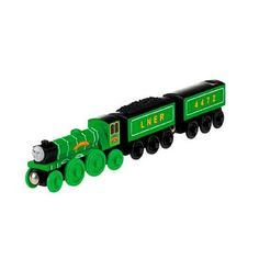 Check out the Thomas & Friends Wooden Railway Flying Scotsman at the official Fisher-Price website. Explore all our Thomas & Friends train sets, engines, track sets and accessories today! Thomas And Friends Trains, Flying Scotsman, Lego Trains, Thomas The Tank, Train Set, Models, Classic Toys, Model Trains, Engineering