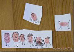 Fingerprint art is fun and easy for kids!