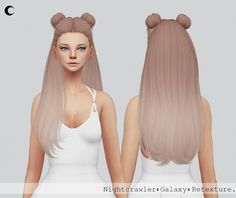 Sims 4 updates: kalewa-a - hairstyles : galaxy hair texture, custom content Wedge Hairstyles, Hairstyles Over 50, Cute Hairstyles, Kawaii Hairstyles, Ladies Hairstyles, Sims 4 Cc Skin, Sims Cc, Galaxy Hair, Mod Hair