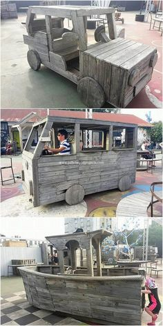 Here we will bring you out with the idea of the wonderful creation of the wood pallet car, wagon and ship design shaping with the manufacturing of the wood use over it. Being medium in size shape, this perfect structure is put into a brilliant look that is so amazing looking.