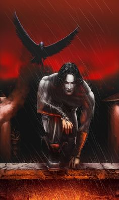 """I love the movie and I'am a big fan of """"The Crow"""". Watching from a roof top on """"Devil's Night"""". Art Jam The Crow The Crow, Dark Fantasy, Fantasy Art, Crow Movie, Character Art, Character Design, Crow Art, Brandon Lee, Bruce Lee"""