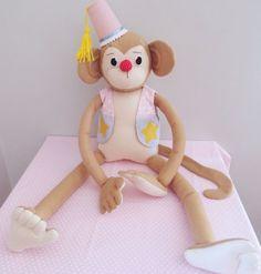 Macaco com tambor- Festa circo vintage Festa circo, circo rosa, circo menina, macaco, feltro, balões, circus party, carnival, circo vintage