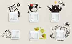 6 Light Switch Sticker Switch Decal Wall Decal by LandCStore