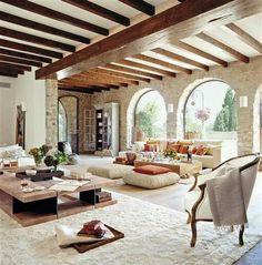 Wondrous Luxury Living Room Interior Design - Page 38 of 46 Spanish Style Homes, Spanish House, Spanish Style Interiors, Spanish Colonial, Home Interior Design, Interior Architecture, Room Interior, Luxury Interior, Luxury Furniture