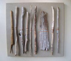 Driftwood Thrift Fabric Sea Grass assemblage door amylgieschen
