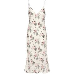 Saint Laurent Printed Crêpe Slip Dress (21.105 ARS) ❤ liked on Polyvore featuring dresses, saint laurent, white, multi colored dress, colorful dresses, white dress, white crepe dress and white slip dress