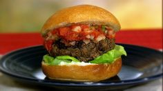 the chew | Recipe  | Hellmann's Juicy Salsa Burger (need to pack burgers better next time: amp)