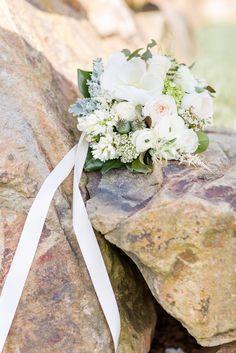 White + Green Wedding Bouquet