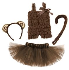 Monkey 4 Piece Tutu Costume Set - My Baby Rocks www.punkbabycloth... www.mybabyrocks.com #mybabyrocks #punkbabyclothes #baby