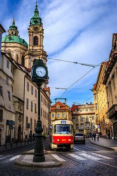 Prague Tram 🌺🌻✿❀❁For more great pins go to Cool Places To Visit, Places To Travel, Places To Go, Visit Prague, Prague Travel, Prague Czech Republic, Prague Castle, Eastern Europe, Budapest
