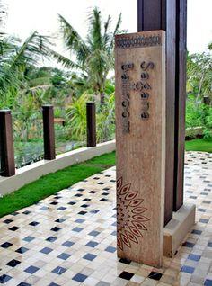 Shangri-La's Boracay Resort Signage Design by Brandy Du, via Behance Pylon Signage, Monument Signage, Hotel Signage, Entrance Signage, Wooden Signage, Wayfinding Signs, Outdoor Signage, Exterior Signage, Environmental Graphics