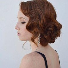 Vintage Hairstyles With Bangs Curly Vintage Updo Idea for Prom Short Hair Updo, Prom Hairstyles For Long Hair Curly, Chic Short Hair, Prom Hair Medium, Prom Hair Updo, Formal Hairstyles, Vintage Hairstyles, Hairstyles With Bangs, Medium Hair Styles