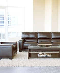 Luke Leather Sofa Living Room Furniture Collection