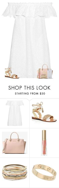 """""""6/13/17"""" by lydiarosenyc ❤ liked on Polyvore featuring Tory Burch, Jack Rogers, MICHAEL Michael Kors, Kendra Scott, Cartier, Kate Spade, Summer, ToryBurch, ootd and jackrogers"""