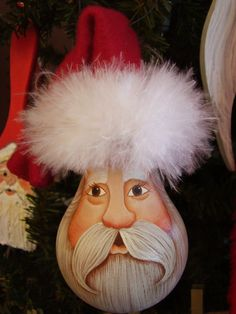 Would you believe this is a painted Santa light bulb....it sure is!