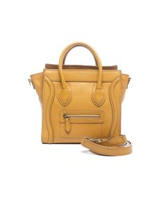 cb29347d9403 Celine Pre-Owned Celine Yellow Calfskin Nano Luggage Tote Bag Celine Bag