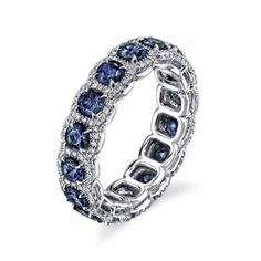Omi Prive: Alexandrite and Diamond Eternity Band Style: BC1000-ALRD