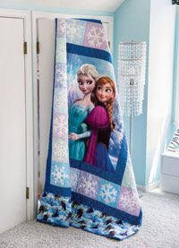 Disney& Frozen quilt kits are ready to order in limited quantites. Colchas Quilting, Quilting Projects, Crafty Projects, Quilting Ideas, Frozen Quilt, Frozen Bedding, Frozen Fabric, Frozen Room, Frozen Theme