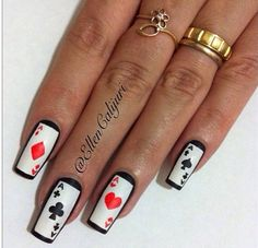 Ready for casino nails art Casino Theme Parties, Casino Party, Las Vegas Nails, Casino Cakes, Bath And Beyond Coupon, Party Makeup, Nail Art Designs, Acrylic Nails, Just For You