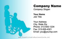 Nursing Home Business Card Company Slogans, Company Names, Printable Business Cards, Care Worker, Job Title, Hospice, Free Printable, Nursing, Woman